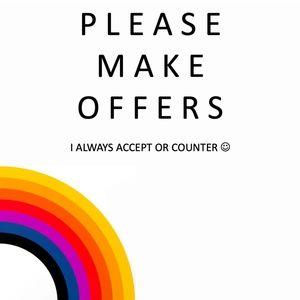 Please send offers! :)